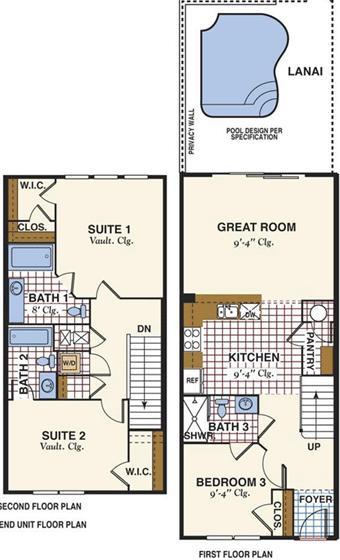 Best townhome floor plans joy studio design gallery for Townhouse floor plan luxury